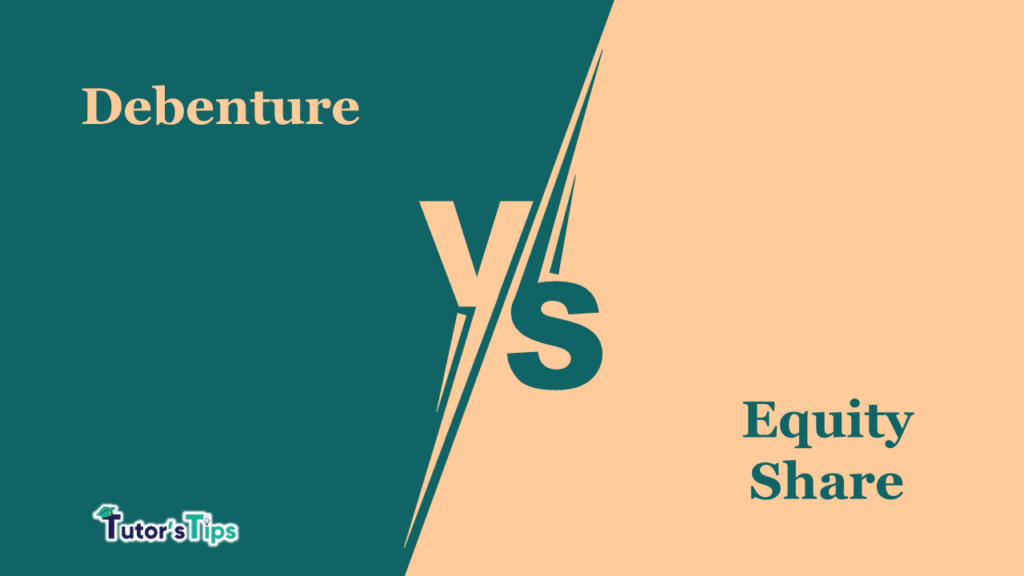 Difference between debenture and equity share-min