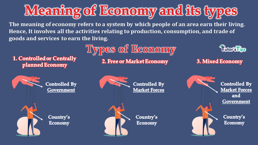 Meaning of Economy and its types