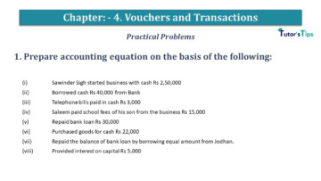 Q 1 CH 4 USHA 1 Book 2020 Solution min 360x203 - Chapter No. 3 - Vouchers and transactions - USHA Publication Class +1