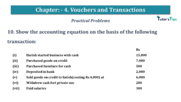 Q 10 CH 4 USHA 1 Book 2020 Solution min 360x203 - Chapter No. 3 - Vouchers and transactions - USHA Publication Class +1