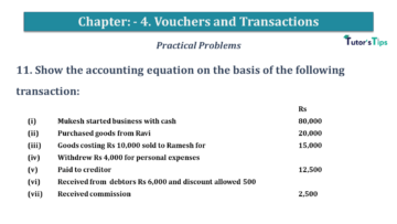 Q 11 CH 4 USHA 1 Book 2020 Solution min 360x203 - Chapter No. 3 - Vouchers and transactions - USHA Publication Class +1