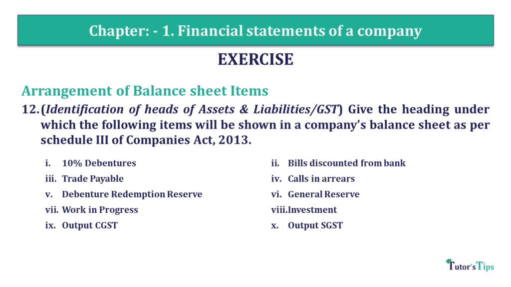 Question 12 Chapter 1 of +2-B