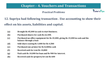 Q 12 CH 4 USHA 1 Book 2020 Solution min 360x203 - Chapter No. 3 - Vouchers and transactions - USHA Publication Class +1