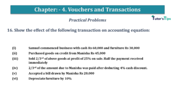 Q 16 CH 4 USHA 1 Book 2020 Solution min 360x203 - Chapter No. 3 - Vouchers and transactions - USHA Publication Class +1