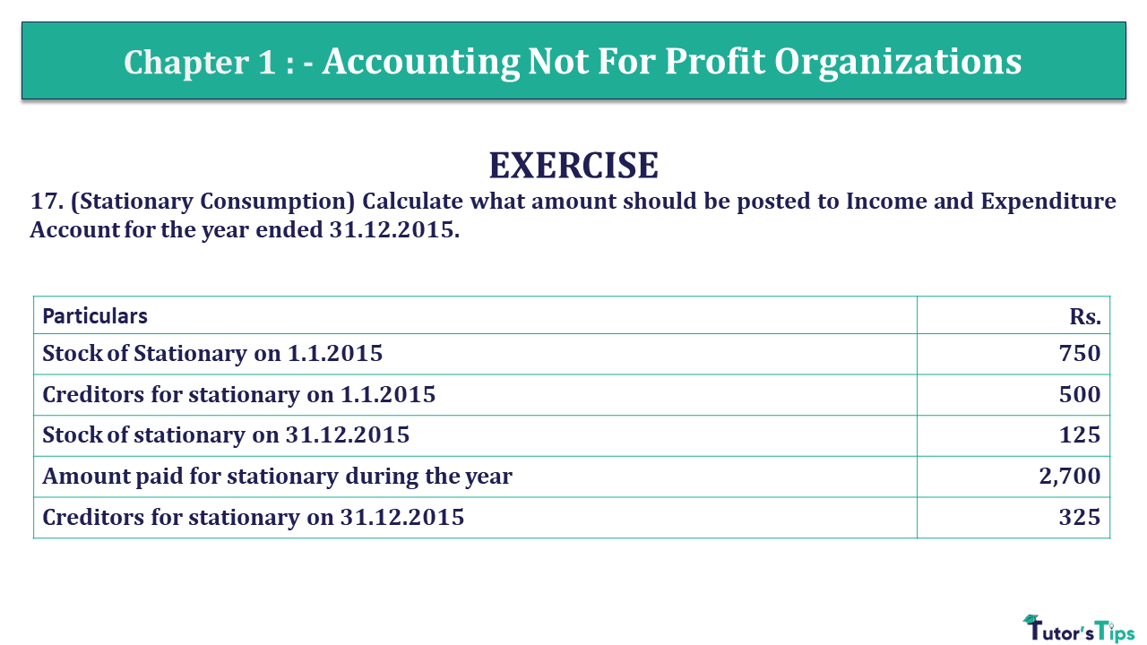 Q 17 CH 1 Usha 2 Book 2018 Solution min - Chapter No. 1 - Accounting Not for Profit Organisations - USHA Publication Class +2 - Solution
