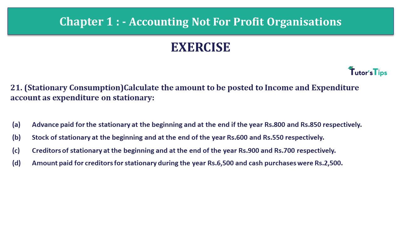 Q 21 CH 1 Usha 2 Book 2018 Solution min - Chapter No. 1 - Accounting Not for Profit Organisations - USHA Publication Class +2 - Solution