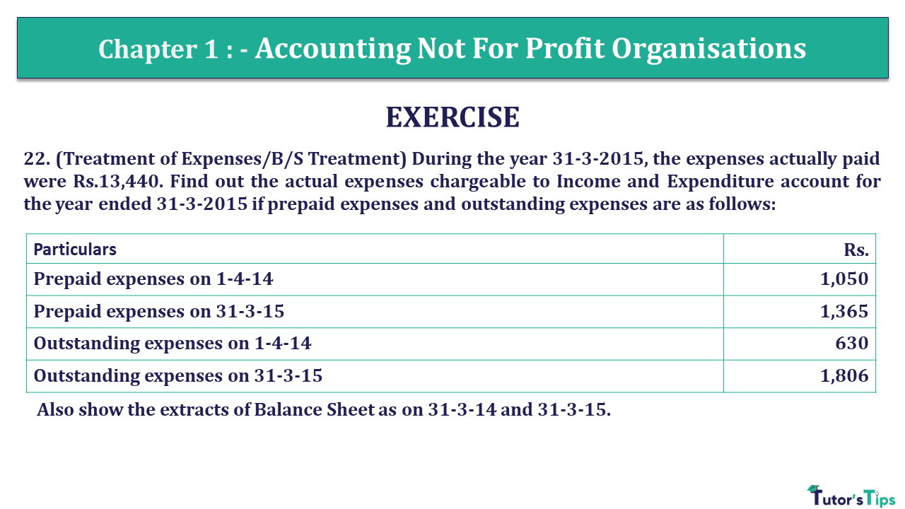 Q 22 CH 1 Usha 2 Book 2018 Solution min - Chapter No. 1 - Accounting Not for Profit Organisations - USHA Publication Class +2 - Solution
