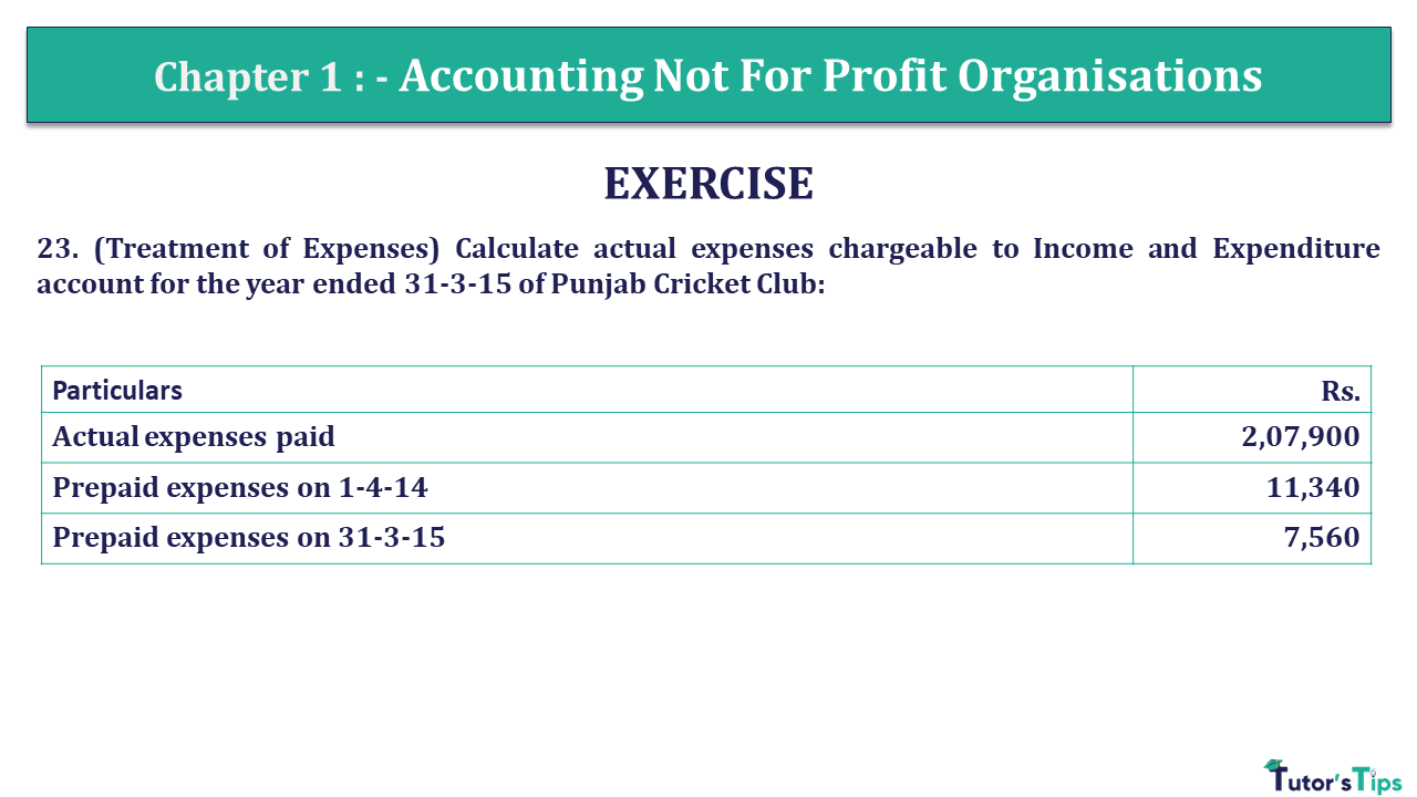 Q 23 CH 1 Usha 2 Book 2018 Solution min - Chapter No. 1 - Accounting Not for Profit Organisations - USHA Publication Class +2 - Solution