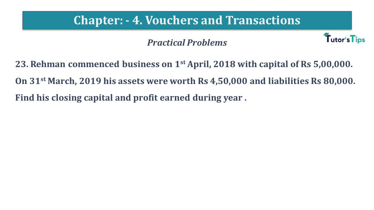 Question No 23 Chapter No 4