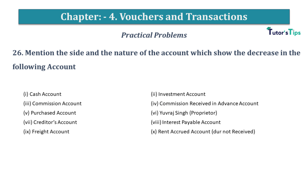 Question No 26 Chapter No 4