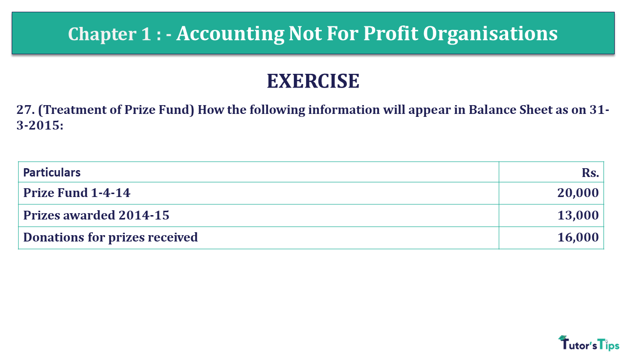 Q 27 CH 1 Usha 2 Book 2018 Solution min - Chapter No. 1 - Accounting Not for Profit Organisations - USHA Publication Class +2 - Solution