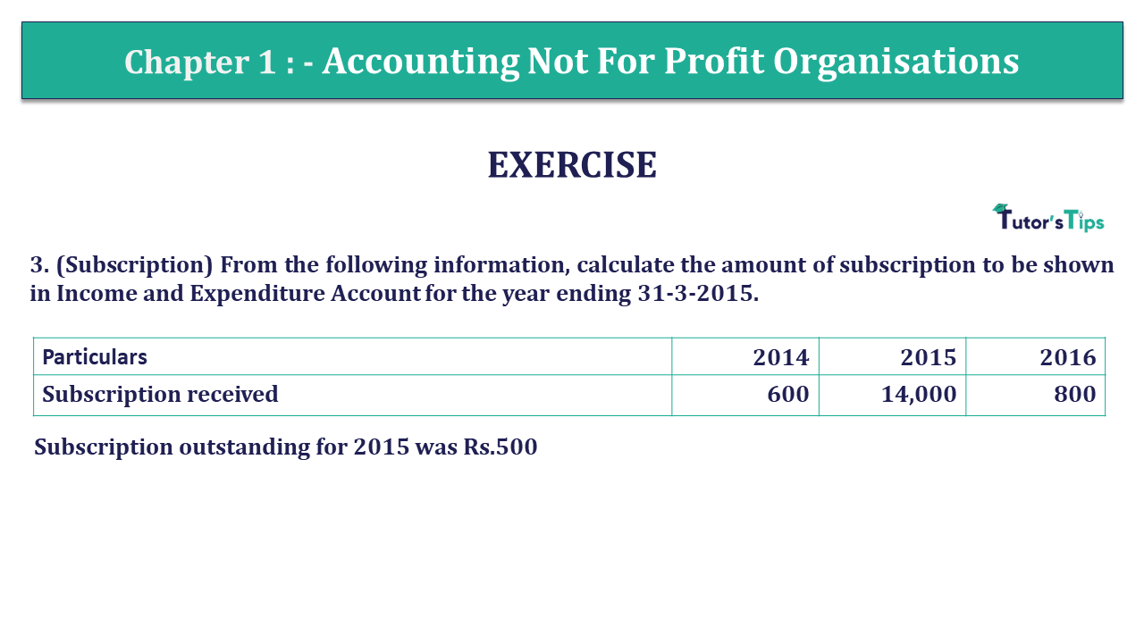 Q 3 CH 1 Usha 2 Book 2018 Solution min - Chapter No. 1 - Accounting Not for Profit Organisations - USHA Publication Class +2 - Solution