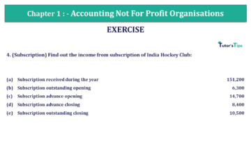 Q 4 CH 1 Usha 2 Book 2018 Solution min 1 360x203 - Chapter No. 1 - Accounting Not for Profit Organisations - USHA Publication Class +2 - Solution
