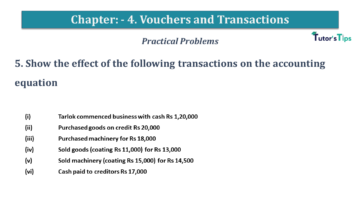 Q 5 CH 4 USHA 1 Book 2020 Solution min 360x203 - Chapter No. 3 - Vouchers and transactions - USHA Publication Class +1