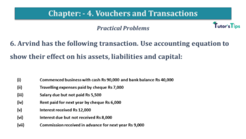 Q 6 CH 4 USHA 1 Book 2020 Solution min 360x203 - Chapter No. 3 - Vouchers and transactions - USHA Publication Class +1