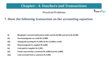 Q 7 CH 4 USHA 1 Book 2020 Solution min 360x203 - Chapter No. 3 - Vouchers and transactions - USHA Publication Class +1