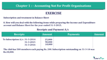Q 8 CH 1 Usha 2 Book 2018 Solution min 360x203 - Chapter No. 1 - Accounting Not for Profit Organisations - USHA Publication Class +2 - Solution