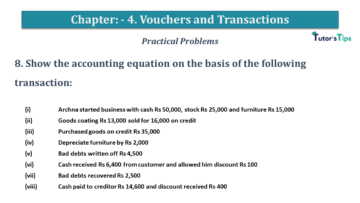 Q 8 CH 4 USHA 1 Book 2020 Solution min 360x203 - Chapter No. 3 - Vouchers and transactions - USHA Publication Class +1