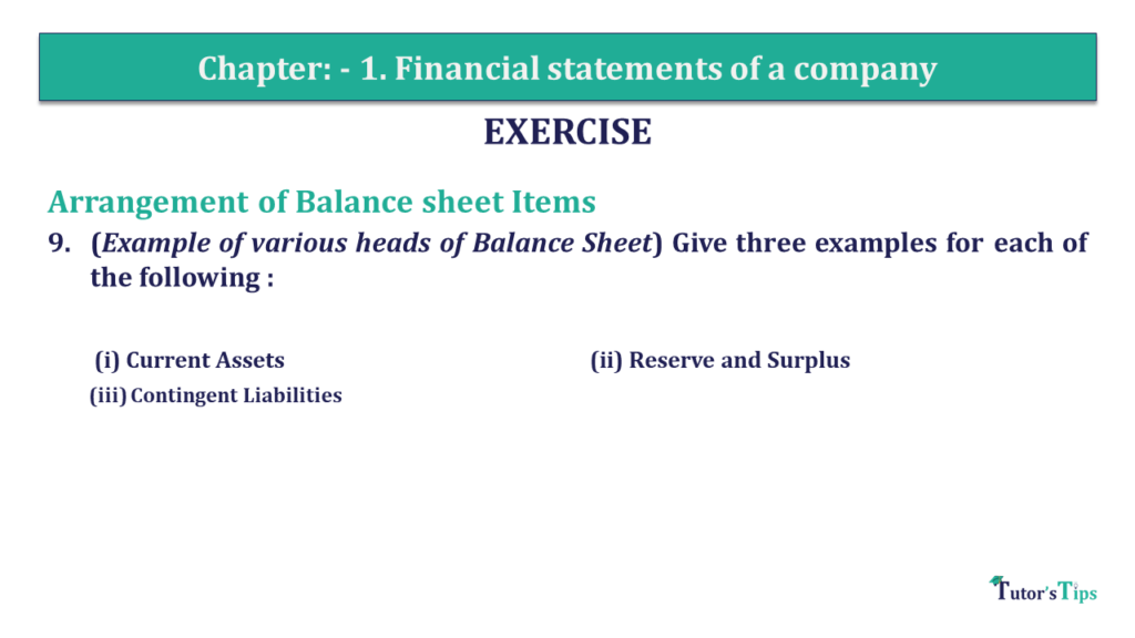 Question 09 Chapter 1 of +2-B