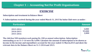 Q 9 CH 1 Usha 2 Book 2018 Solution min 360x203 - Chapter No. 1 - Accounting Not for Profit Organisations - USHA Publication Class +2 - Solution