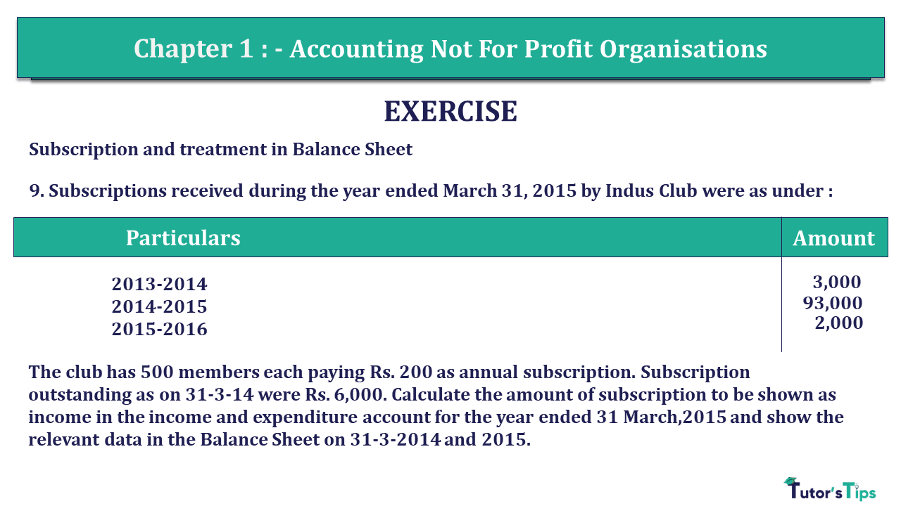 Q 9 CH 1 Usha 2 Book 2018 Solution min - Chapter No. 1 - Accounting Not for Profit Organisations - USHA Publication Class +2 - Solution