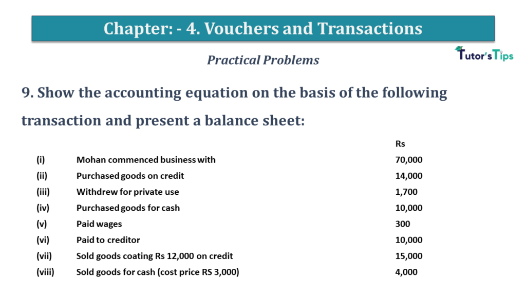Question No 9 Chapter No 4