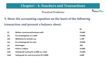 Q 9 CH 4 USHA 1 Book 2020 Solution min 360x203 - Chapter No. 3 - Vouchers and transactions - USHA Publication Class +1