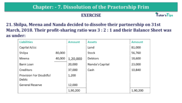 Question No.21 Chapter No.7 T.S. Grewal 2 Book 2019 Solution min min 360x203 - Chapter No. 7 - Dissolution of a Partnership Firm - Solution - Class 12