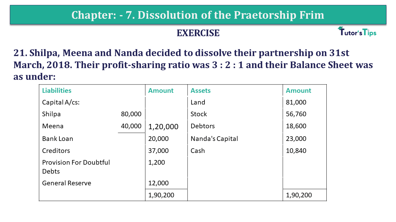 Question 21 Chapter 7of +2-A