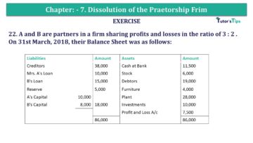 Question No.22 Chapter No.7 T.S. Grewal 2 Book 2019 Solution min min 360x203 - Chapter No. 7 - Dissolution of a Partnership Firm - Solution - Class 12