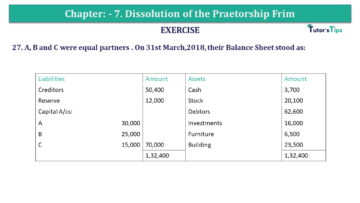 Question No.27 Chapter No.7 T.S. Grewal 2 Book 2019 Solution min min 360x203 - Chapter No. 7 - Dissolution of a Partnership Firm - Solution - Class 12