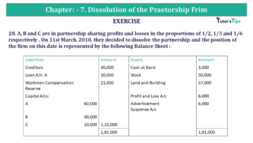 Question No.28 Chapter No.7 T.S. Grewal 2 Book 2019 Solution min min 360x203 - Chapter No. 7 - Dissolution of a Partnership Firm - Solution - Class 12