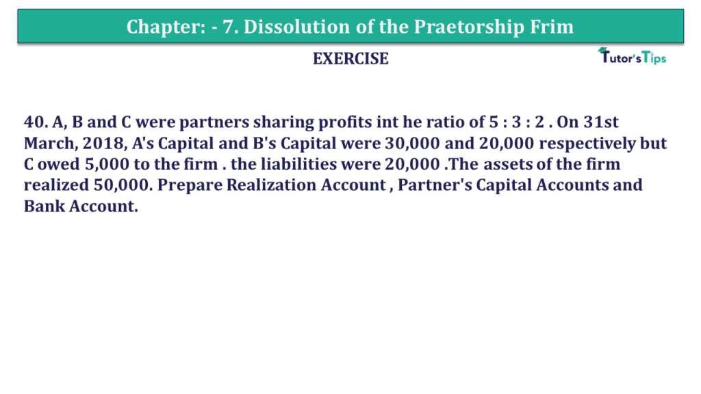 Question 40 Chapter 7of +2-A