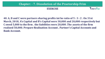 Question No.40 Chapter No.7 T.S. Grewal 2 Book 2019 Solution min min 360x203 - Chapter No. 7 - Dissolution of a Partnership Firm - Solution - Class 12
