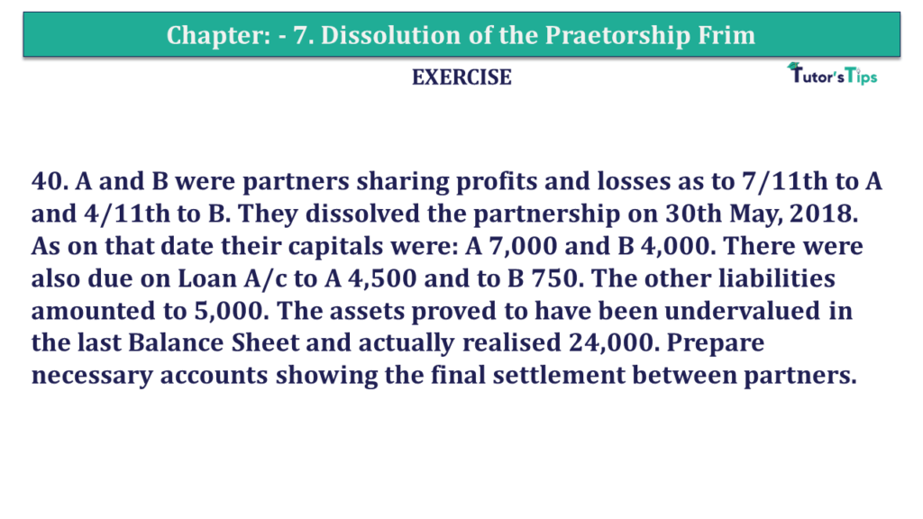 Question 41 Chapter 7of +2-A