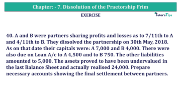 Question No.41 Chapter No.7 T.S. Grewal 2 Book 2019 Solution min min 360x203 - Chapter No. 7 - Dissolution of a Partnership Firm - Solution - Class 12