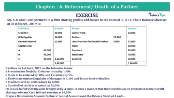 Question No.51 Chapter No.6 T.S. Grewal 2 Book 2019 Solution min min 1 360x203 - Chapter No. 6 - Retirement/Death of a Partner - Solution - Class 12
