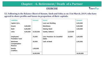 Question No.52 Chapter No.6 T.S. Grewal 2 Book 2019 Solution min min 1 360x203 - Chapter No. 6 - Retirement/Death of a Partner - Solution - Class 12