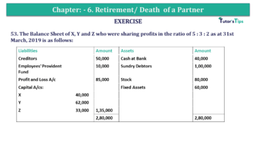 Question No.53 Chapter No.6 T.S. Grewal 2 Book 2019 Solution min min 1 360x203 - Chapter No. 6 - Retirement/Death of a Partner - Solution - Class 12