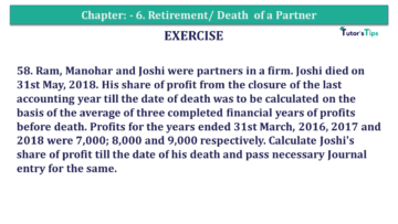 Question No.58 Chapter No.6 T.S. Grewal 2 Book 2019 Solution min min 1 360x203 - Chapter No. 6 - Retirement/Death of a Partner - Solution - Class 12