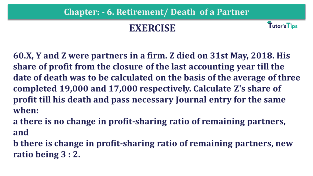 Question 60 Chapter 6of +2-A - T.S. Grewal 12 Class Part - A Vol. 1