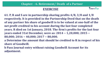 Question No.61 Chapter No.6 T.S. Grewal 2 Book 2019 Solution min min 1 360x203 - Chapter No. 6 - Retirement/Death of a Partner - Solution - Class 12