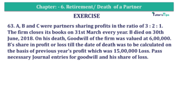 Question No.63 Chapter No.6 T.S. Grewal 2 Book 2019 Solution min min 3 360x203 - Chapter No. 6 - Retirement/Death of a Partner - Solution - Class 12
