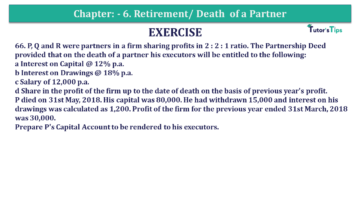 Question No.66 Chapter No.6 T.S. Grewal 2 Book 2019 Solution min min 360x203 - Chapter No. 6 - Retirement/Death of a Partner - Solution - Class 12