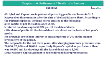 Question No.69 Chapter No.6 T.S. Grewal 2 Book 2019 Solution min min 360x203 - Chapter No. 6 - Retirement/Death of a Partner - Solution - Class 12