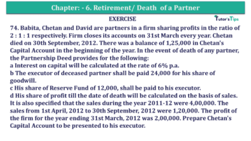 Question No.74 Chapter No.6 T.S. Grewal 2 Book 2019 Solution min min 360x203 - Chapter No. 6 - Retirement/Death of a Partner - Solution - Class 12