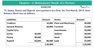 Question No.75 Chapter No.6 T.S. Grewal 2 Book 2019 Solution min min 360x203 - Chapter No. 6 - Retirement/Death of a Partner - Solution - Class 12