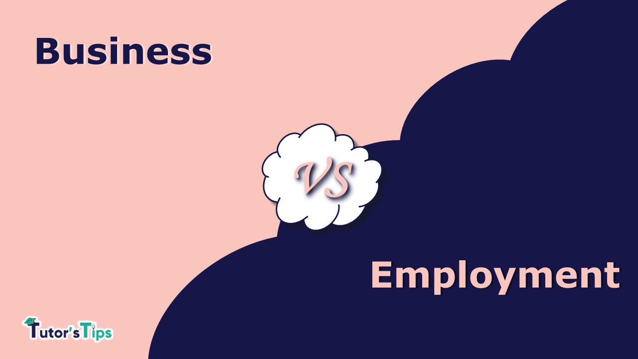 The difference between Business and Employment min - Differences Between the terms of various subjects