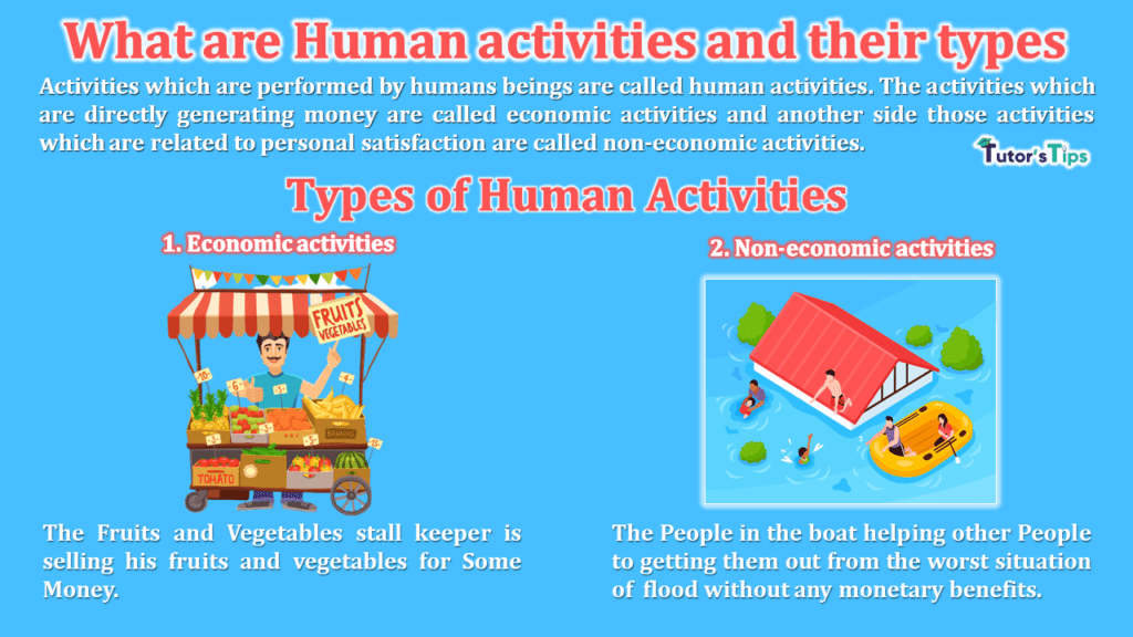 What are Human activities and their types