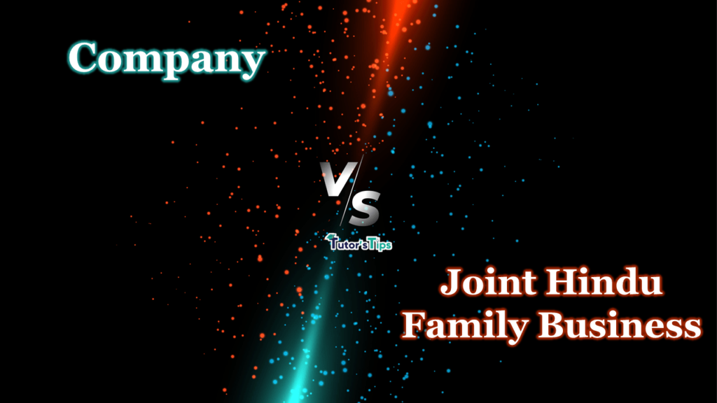 Difference between Company and Joint Hindu Family Business-min